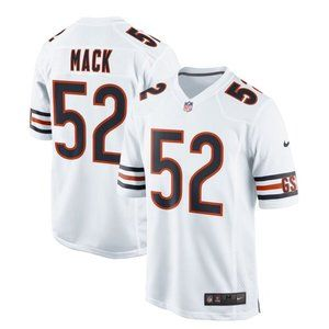 NEW NFL Men's 52# Khalil Mack Nike White jersey